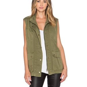 CURRENT/ELLIOTT The Leisure Vest In Army Green